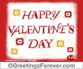 Valentine's Day ecard in red