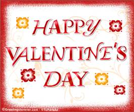 Valentine's Day ecard in red