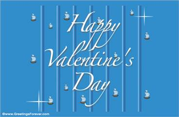 Valentine's Day ecard in blue
