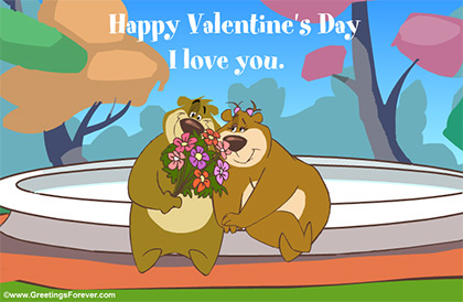 I love you with bear couple
