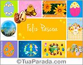 Cartão de Páscoa com imagens