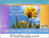 Cartão Feliz Páscoa