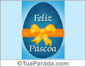 Cartão com ovo de Páscoa