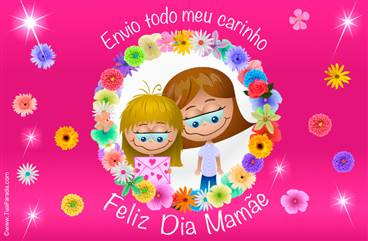 Cartão feliz dia mamae