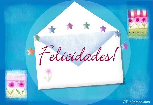 Cartão - Felicidades!