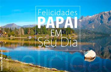 Cartão de dia dos pais com paisagem