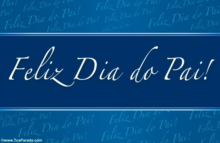 Cartão - Postal animado para o Dia do Pai
