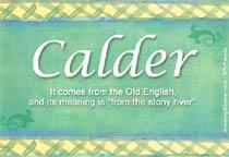 Name Calder