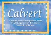 Name Calvert