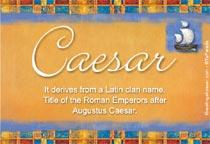 Name Caesar