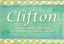 Name Clifton