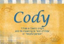 Name Cody
