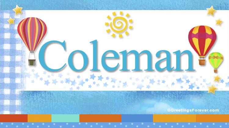 Coleman, imagen de Coleman