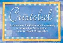 Name Cristobal