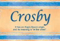 Name Crosby