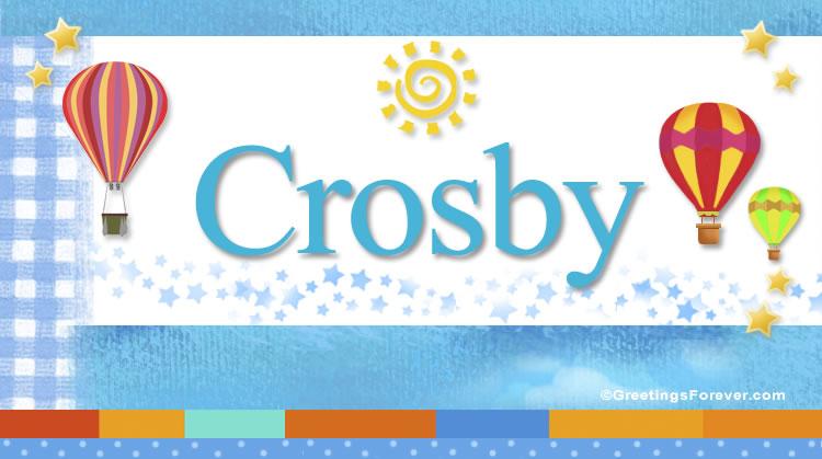Crosby, imagen de Crosby