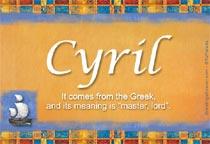 Name Cyril