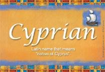 Name Cyprian