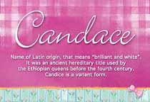 Name Candace