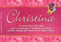 Name Christina