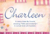 Name Charleen