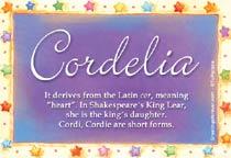 Name Cordelia