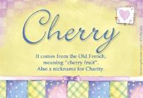 Name Cherry