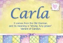 Name Carla