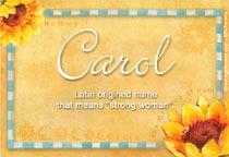 Name Carol