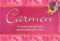 Name Carmen