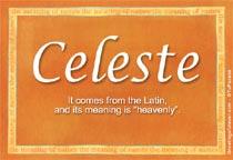 Name Celeste