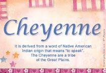 Name Cheyenne