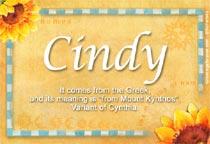 Name Cindy