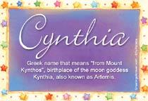 Name Cynthia