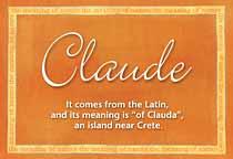 Name Claude