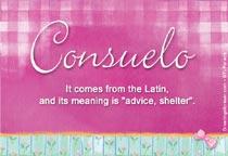 Name Consuelo