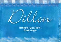 Name Dillon
