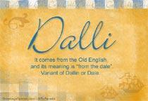 Name Dalli