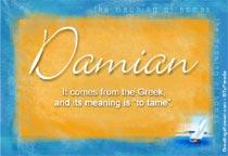Name Damian