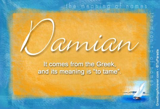 Damian name meaning damian name origin name damian for Domon name meaning