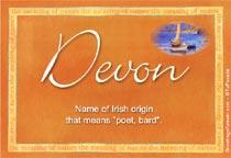 Name Devon