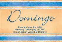Name Domingo