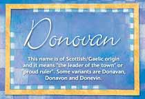 Name Donovan