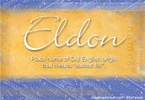Name Eldon