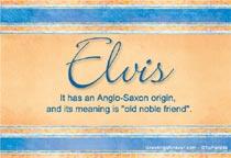 Name Elvis