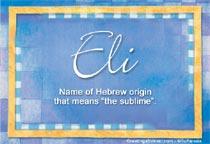 Name Eli