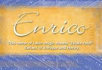 Name Enrico