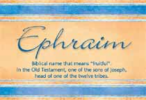 Name Ephraim