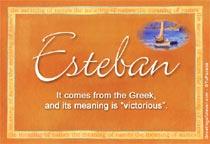 Name Esteban