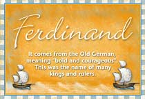 Name Ferdinand